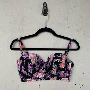 Xhilaration Floral Underwire Floral Bikini Top